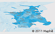 Political Shades Panoramic Map of Vestsjalland, single color outside