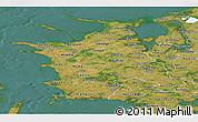 Satellite Panoramic Map of Vestsjalland