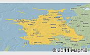 Savanna Style Panoramic Map of Vestsjalland