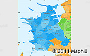 Political Shades Simple Map of Vestsjalland