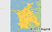 Savanna Style Simple Map of Vestsjalland