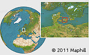 Satellite Location Map of Stenlille