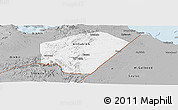 Gray Panoramic Map of Ali Sabieh