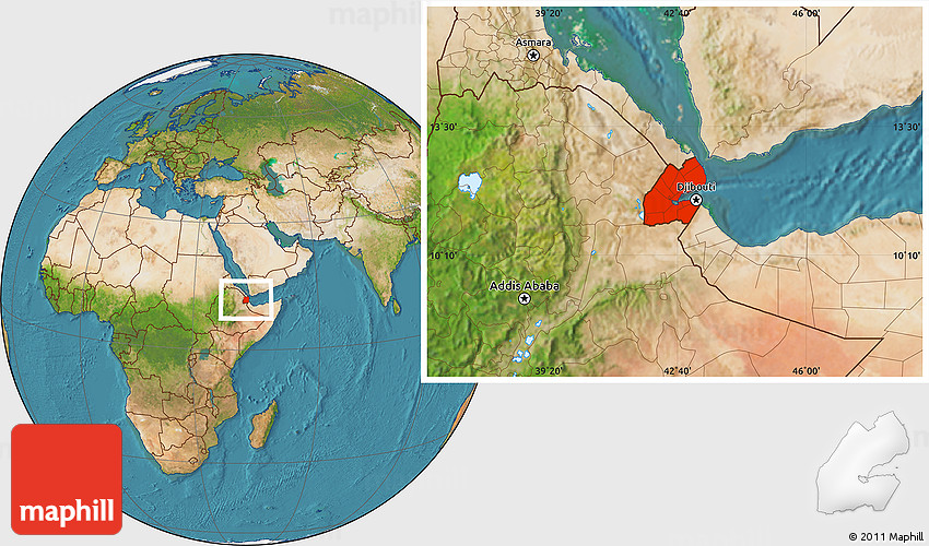Djibouti Africa Map Satellite | Campinglifestyle on