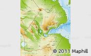 Physical Map of Djibouti
