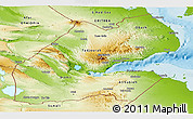 Physical Panoramic Map of Djibouti