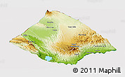Physical Panoramic Map of Tadjourah, cropped outside