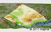 Physical Panoramic Map of Tadjourah, darken
