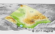 Physical Panoramic Map of Tadjourah, desaturated