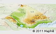 Physical Panoramic Map of Tadjourah, lighten
