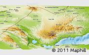 Physical Panoramic Map of Tadjourah