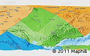 Political Shades Panoramic Map of Tadjourah