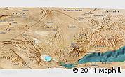 Satellite Panoramic Map of Tadjourah