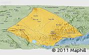 Savanna Style Panoramic Map of Tadjourah