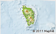 Physical D Map Of Dominica - Physical map of dominica