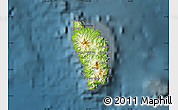 Physical Map Of Dominica Darken - Physical map of dominica