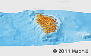 Political Shades Panoramic Map of Dominica