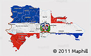 Flag 3D Map of Dominican Republic