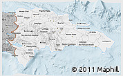 Gray 3D Map of Dominican Republic