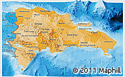 Political Shades 3D Map of Dominican Republic