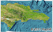 Satellite 3D Map of Dominican Republic
