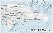 Silver Style 3D Map of Dominican Republic