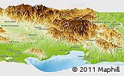 Physical Panoramic Map of Azua