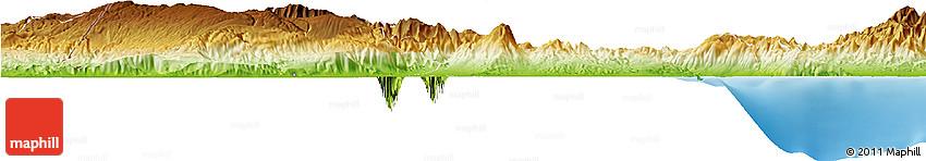 Physical Horizon Map of Baoruco