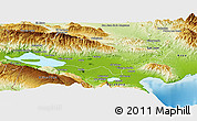 Physical Panoramic Map of Baoruco