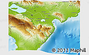 Physical 3D Map of Barahona