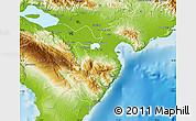 Physical Map of Barahona