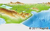 Physical Panoramic Map of Barahona