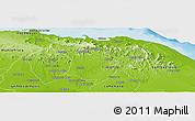 Physical Panoramic Map of El Seibo