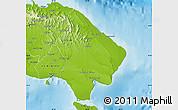 Physical Map of La Altagracia