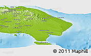 Physical Panoramic Map of La Altagracia