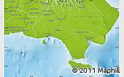 Physical Map of La Romana