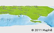 Physical Panoramic Map of La Romana