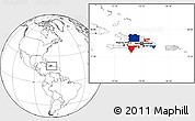 Flag Location Map of Dominican Republic, blank outside