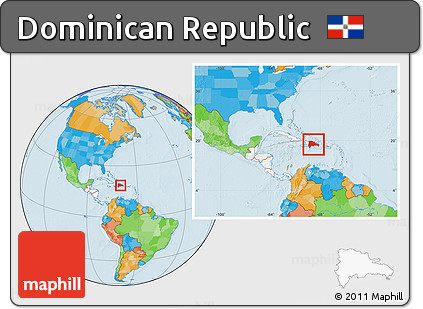 Free Political Location Map of Dominican Republic ...