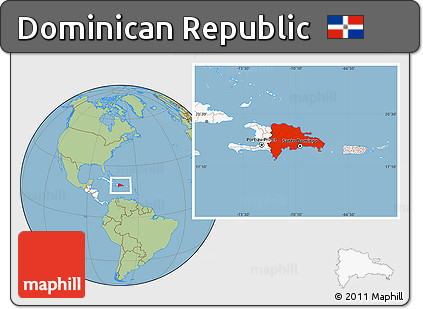Free Savanna Style Location Map of Dominican Republic ...