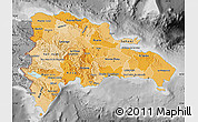 Political Shades Map of Dominican Republic, desaturated