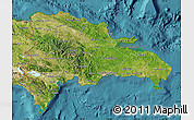 Satellite Map of Dominican Republic