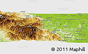 Physical Panoramic Map of Monsenor Nouel