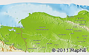 Physical 3D Map of Monte Cristi