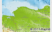 Physical Map of Monte Cristi