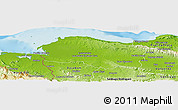 Physical Panoramic Map of Monte Cristi