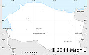 Silver Style Simple Map of Monte Cristi