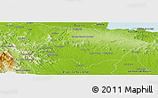 Physical Panoramic Map of Monte Plata