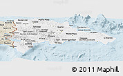Classic Style Panoramic Map of Dominican Republic