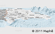 Gray Panoramic Map of Dominican Republic